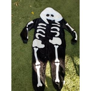 Hooded Skelton onesie size small